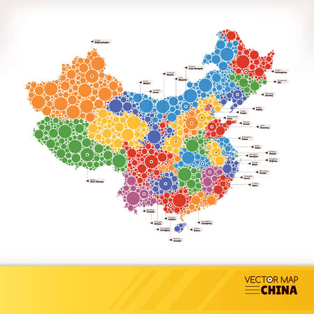 Map of China vector illustration  Vector