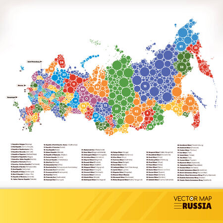 Map of Russia illustration Vector