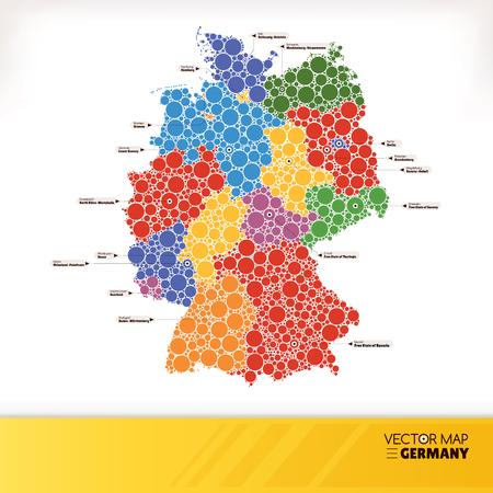 Karte von Deutschland Illustration