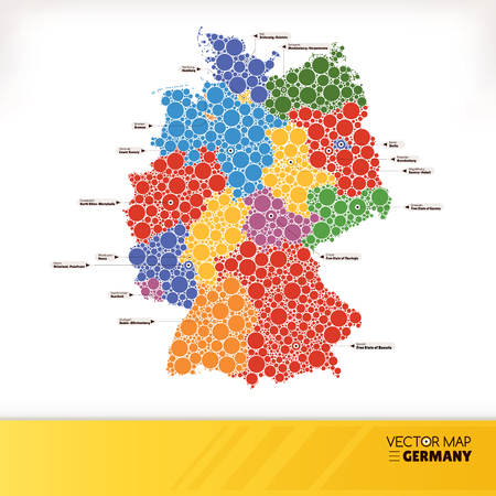 Map of Germany illustration Vector