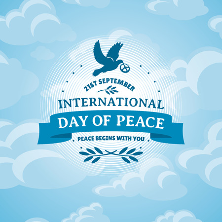 peace love: International Day of Peace vector illustration
