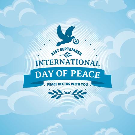 Journée internationale de la paix, illustrations vecteur Banque d'images - 31394936