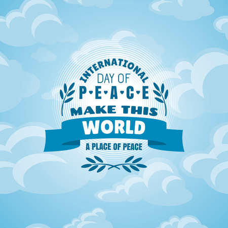 peace day: International Day of Peace vector illustration