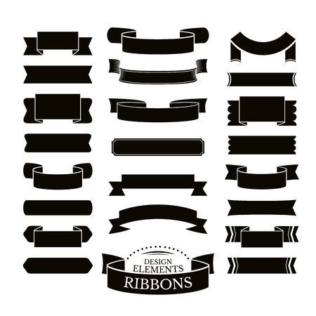 ribbons vector: Collection of different ribbons vector illustration