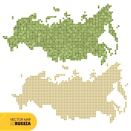 russia map: Map of Russia illustration Illustration