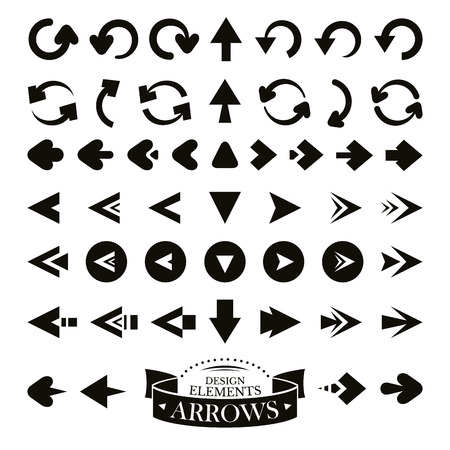 download link: Set of different arrow icons vector illustration