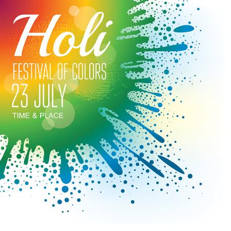 the festival: Holi festival poster.