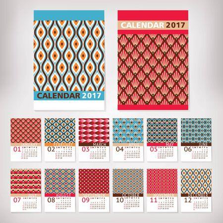 2017 year stylish calendar vector illustration