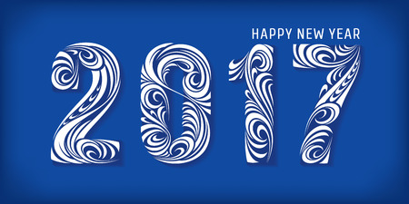2017 banner. Happy new year. Vector illustration, eps 10