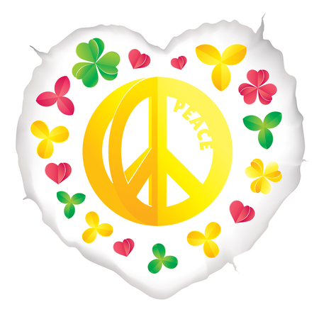 Hippie peace symbol vector illustration Illustration