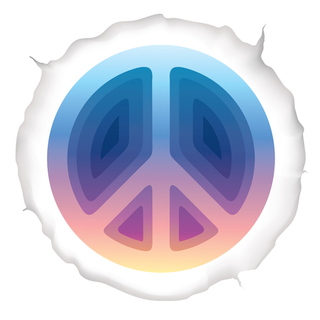Hippie peace symbol vector illustration Illustration