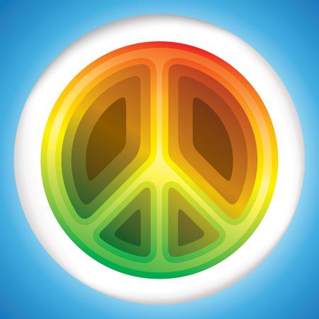 Hippie peace symbol vector illustration  イラスト・ベクター素材