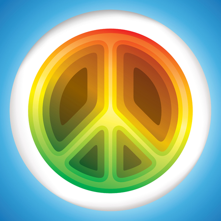 philosophy of music: Hippie peace symbol vector illustration Illustration