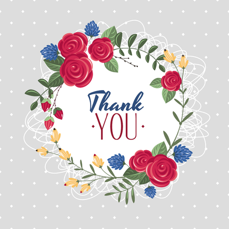 Thank you gift card vector illustration