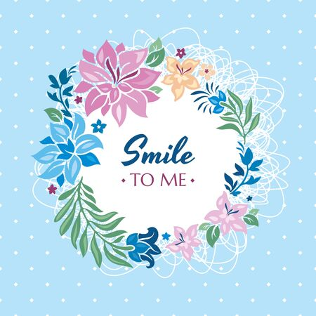 Smile to me gift card vector illustration  イラスト・ベクター素材