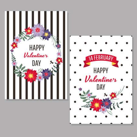 バレンタインのグリーティング カード ベクトル イラスト 写真素材 - 78449153