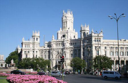 build in: Central Post Office (build in 1904) in Madrid, Spain.