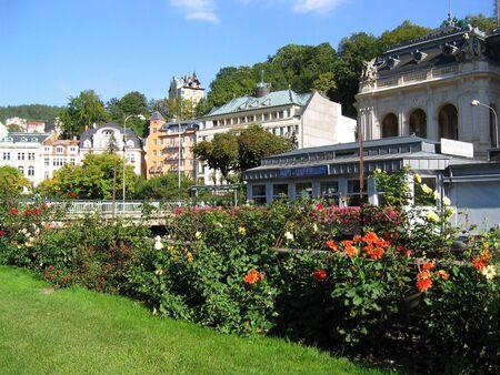 karlovy: Karlovy Varys view, Czech Republic.