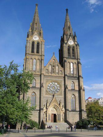 The St. Ludmila Church (1888-93) in Prague? Czech Republic. photo