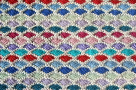 Close-up of knitted wool texture. Great for a background or texture element for design. photo