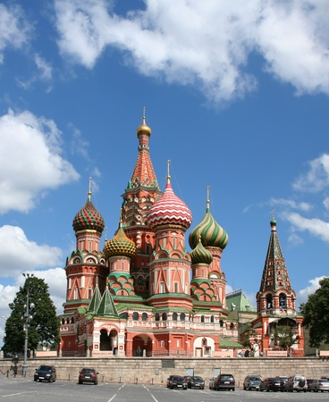 St Basils Cathedral on the Red square, Moscow, Russian Federation. photo