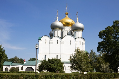 The Smolensky Cathedral in the Novodevichy Convent  Moscow, Russia  The Novodevichy Convent was founded in 16th century  In 2004 it was proclaimed a UNESCO World Heritage Site  photo