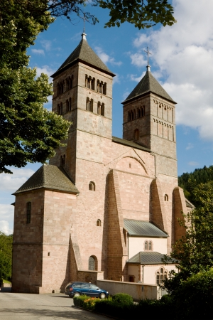 leger: The church of St  Leger in Murbach abbey in France Stock Photo