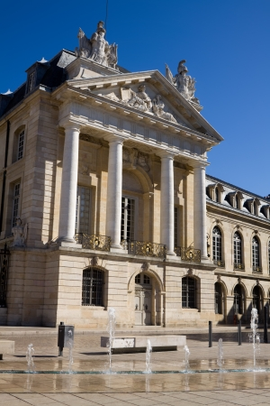 neo classical: The Palace of dukes of Burgundy  Palais des ducs de Bourgogne  on the Liberation square in Dijon, France