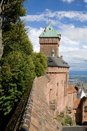 haut: Castle Haut-Koenigsbourg in Alsace, France  The castle was known from 1147