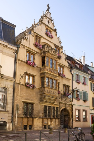 The famous Renaissance house  1609   known as Maison des tetes  House of heads   in Colmar, France