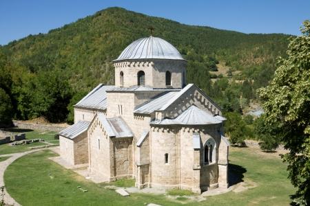 The church in the orthodox monastery Gradac in Serbia  Gradac Monastery is located in Golija tourist region, and near the tourist center Kopaonik  Stock Photo - 23130635