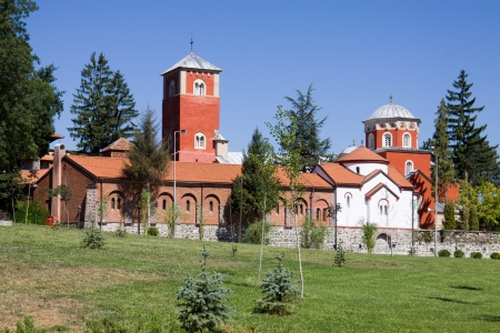 The orthodox monastery Zica in Serbia  The Monastery was founded in 13th century near Kraljevo city   Stock Photo - 23130647
