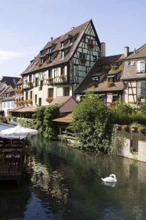The  Little Venice   la Petite Venise   in Colmar city   Alsace, France  Colmar is the capital of the Haut-Rhin department in Alsace   photo