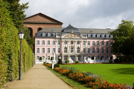 basillica: The prince electors palace and the roman basillica in Trier, Germany  Trier is the oldest city in Germany  Editorial