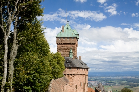 haut: Castle Haut-Koenigsbourg in Alsace, France  The castle was known from 1147  It was abandoned during Thirty Years