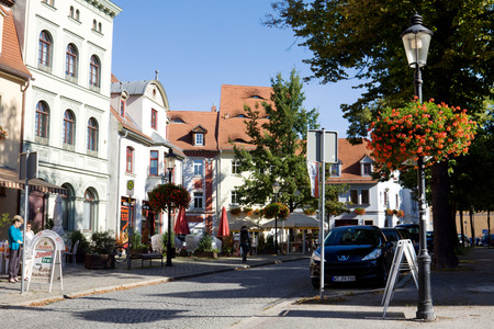 nook: A cosy nook in Naumburg; Saxony-Anhalt, Germany. Naumburg is a city in the federal state Saxony-Anhalt on the Saale River. Editorial