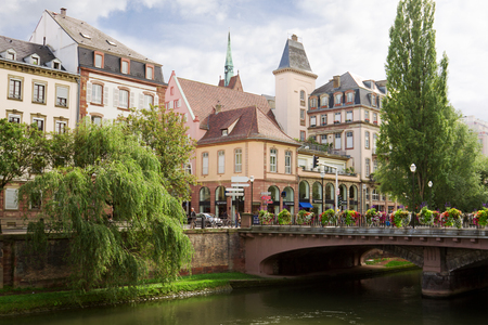 strasbourg: Strasbourg cityscape in the historical center. Alsace, France. The Strasbourg Editorial