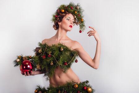 Christmas theme Woman. photo
