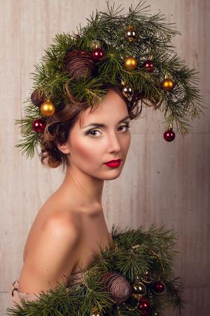 Christmas Woman. photo
