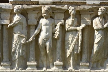 iznik: Sarcophagus Relief from Byzantine Iznik Museum  Iznik Turkey  Stock Photo