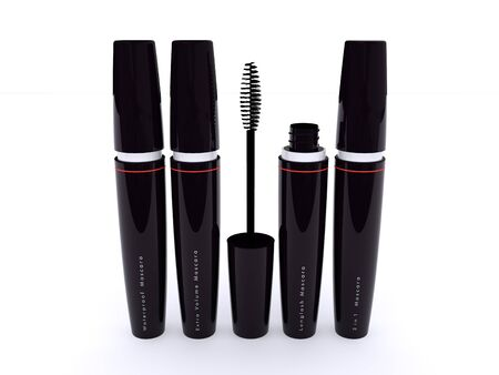 3D black mascara series photo