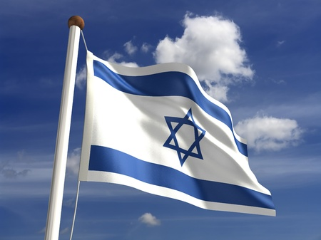 3D Israel flag photo