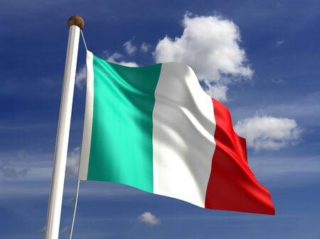 flaga włoch: 3D Flaga Włochy