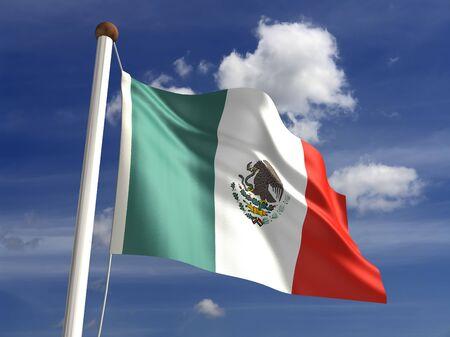 mexico flag: 3D Mexico flag
