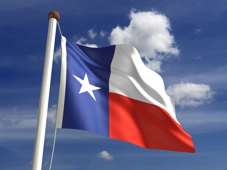 3D Texas flag photo