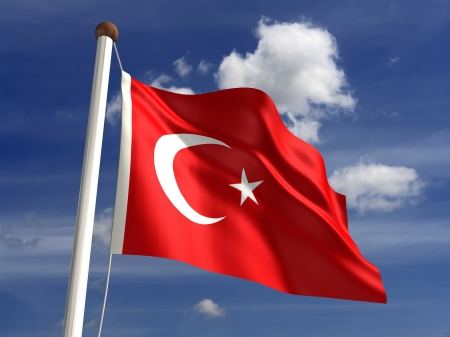 3D Turkey flag
