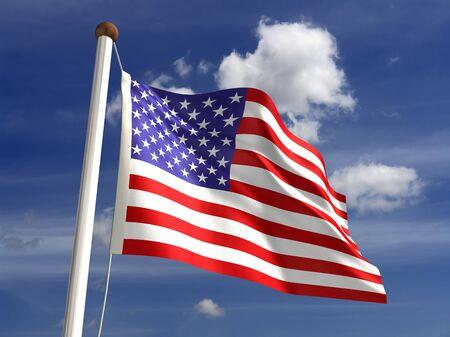 3D USA flag photo