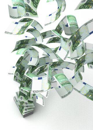Flying Euros Stock Photo - 14377134
