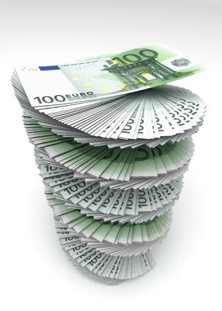 Swirled Euros photo