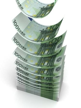 Falling Euro Stock Photo - 14377127